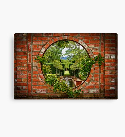 A Window to the Garden Canvas Print