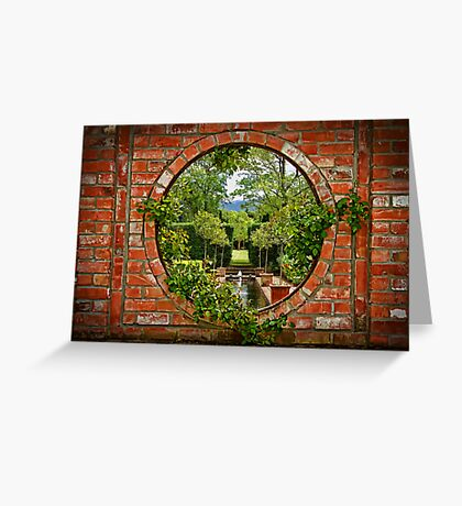 A Window to the Garden Greeting Card