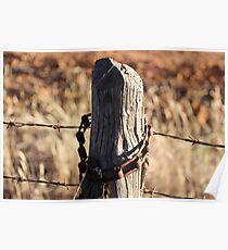Rustic Fencepost  Poster