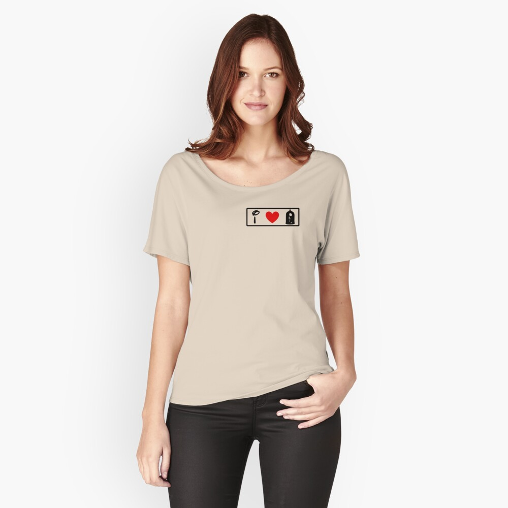 I Heart Beauty and The Beast (Classic Logo) Women's Relaxed Fit T-Shirt Front