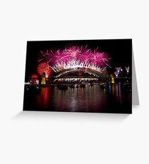 NYE 2013 FIREWORKS | SYDNEY HARBOUR BRIDGE Greeting Card