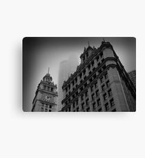 Chicago in the Mist Canvas Print