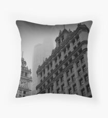 Chicago in the Mist Throw Pillow