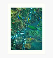 WRASSE REACTION Art Print