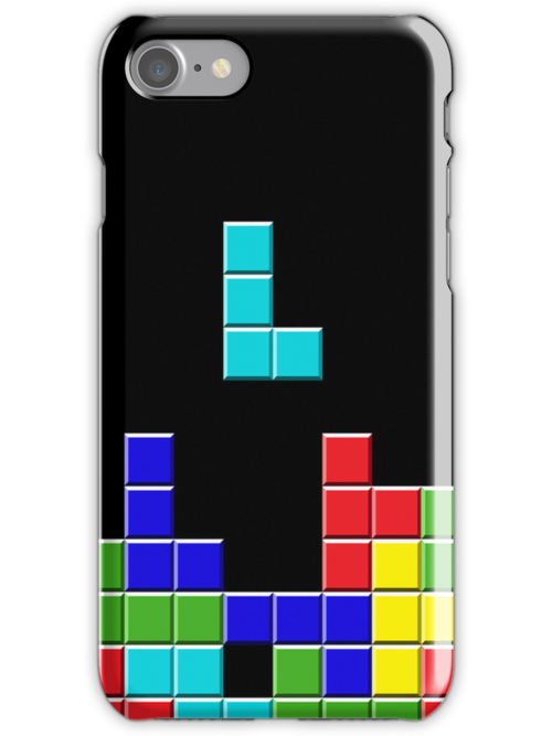 Classic Tetris iPhone Case by Christopher McElfresh
