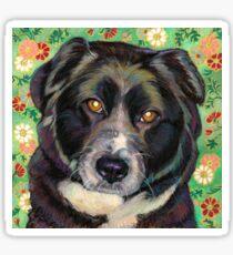 Zoe, a sweet Rescue Dog  Sticker