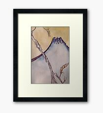 Japanese Mountain Framed Print