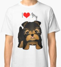 Cute Yorshire Terrier Puppy Dog Classic T-Shirt