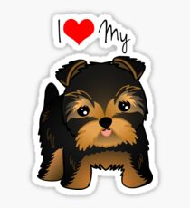 Cute Yorshire Terrier Puppy Dog Sticker