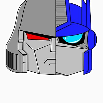 Little Megatron and Little Optimus by WUVWA