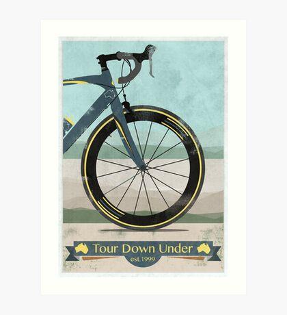 Tour Down Under Bike Race Art Print
