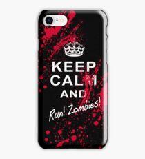 KEEP CALM RUN ZOMBIES iPhone Case/Skin