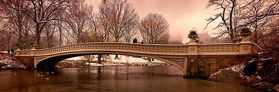 Bow Bridge Winter Panorama by Chris Lord