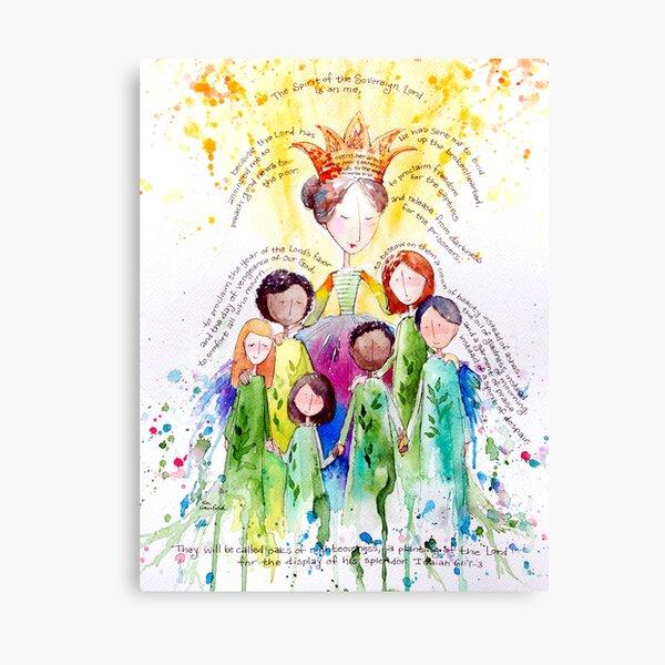 Isaiah 61 Woman Canvas Print