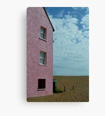 Pink building against cloudy sky Canvas Print