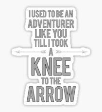 Knee to the Arrow Sticker