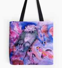 Koi and lilie pad. watercolor Tote Bag