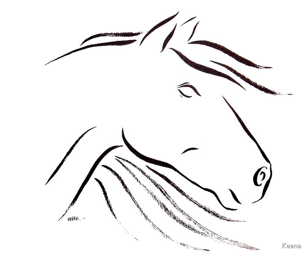Horse Essence ii by Keena Friedrichsmeier