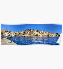 Gialos Harbour Panorama Poster