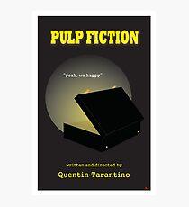 Pulp Fiction Minimalist Movie Poster Photographic Print