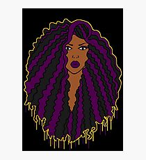 Black Girl, Purple Magic  Photographic Print
