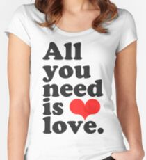 All You Need Is Love ♥  Women's Fitted Scoop T-Shirt