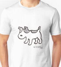 woofwoof dog meeting jack russell terrier T-Shirt