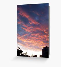 Sunset - One - 01 01 13 Greeting Card