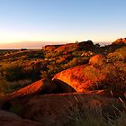 Devils Marbles Evening Glow by Virginia  McGowan