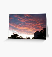 Sunset Two - 01 01 13 Greeting Card