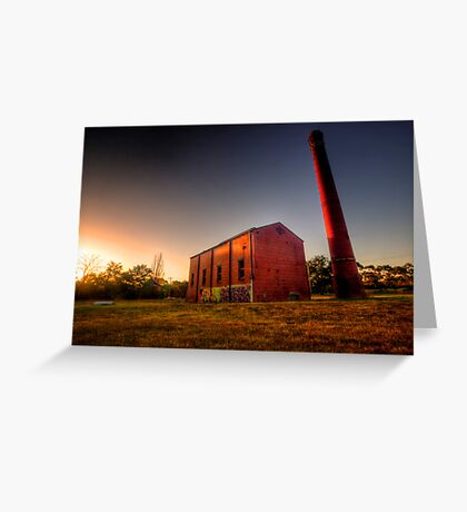 Old Mill at Sunset Greeting Card