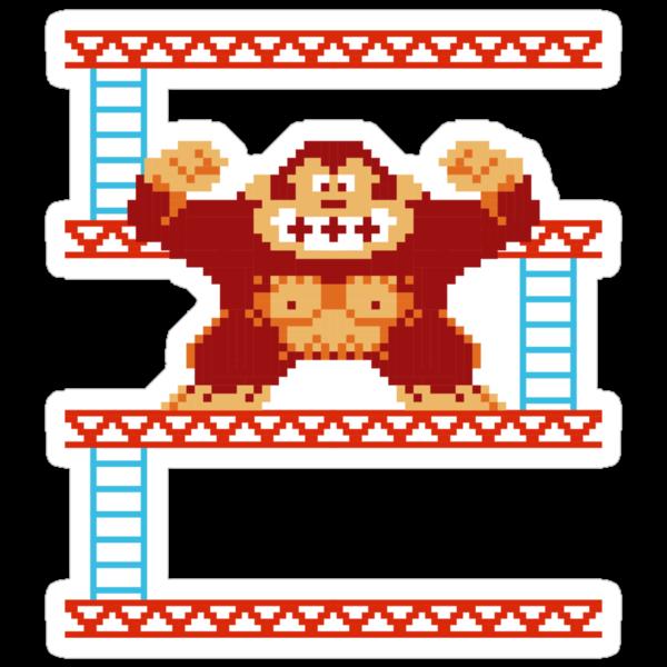 Classic 8 bit monkey  by squidgun