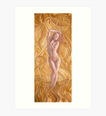 Naked Aphrodite   Art Print