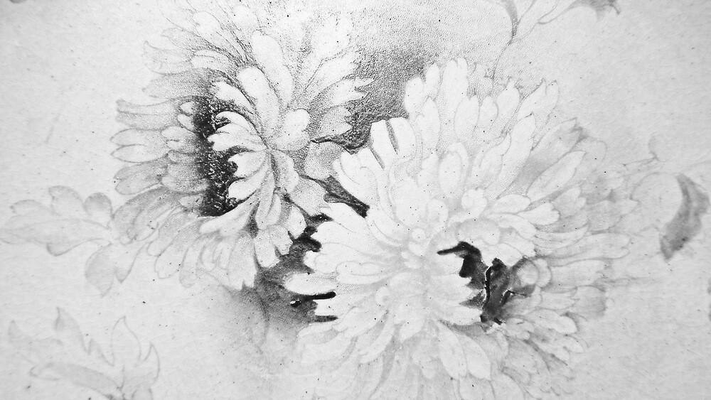 Victorian Chrysanthemum. by Lou Wilson