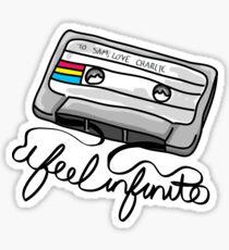 """I Feel Infinite"" - Perks of Being a Wallflower Sticker"