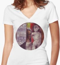 Man In Doorway Women's Fitted V-Neck T-Shirt