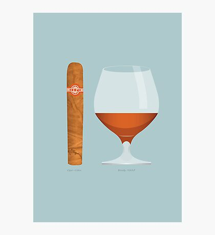 Brandy and Cigar Photographic Print