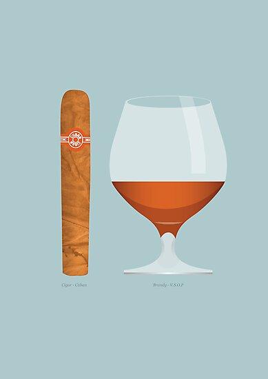Brandy and Cigar by Stephen Wildish