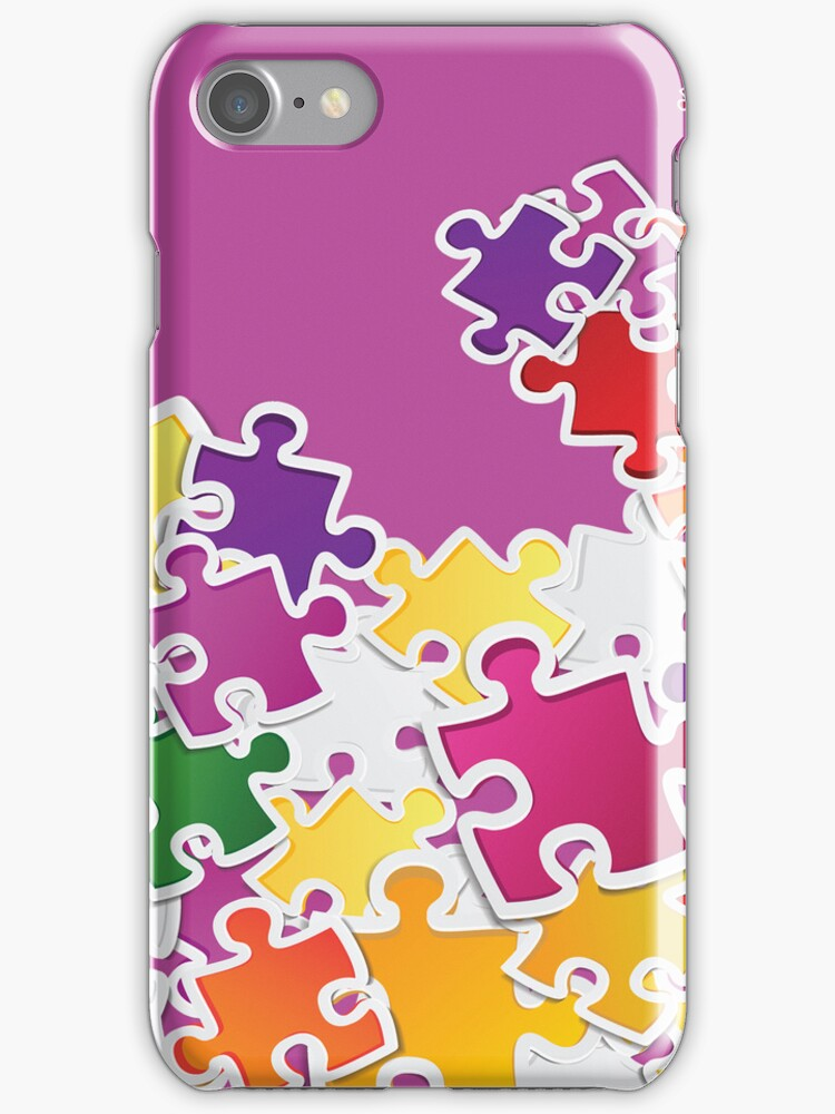 Puzzle Look iPhone 5 Case / iPad Case / iPhone 4 Case / Samsung Galaxy Cases  by CroDesign