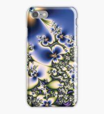 Blue Fractal Flowers iPhone Case/Skin