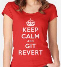 Keep Calm Geeks: Git Revert Women's Fitted Scoop T-Shirt