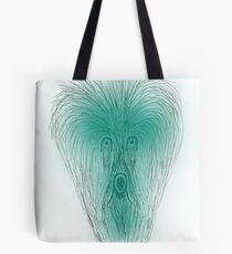 Scarey face in greens Tote Bag