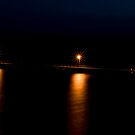 Wool Bay jetty at night from the cliff top 2 by paul erwin