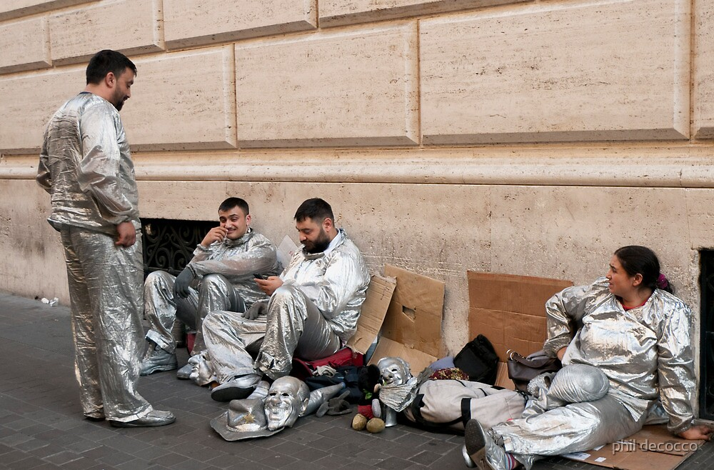 Mimes On Break by phil decocco