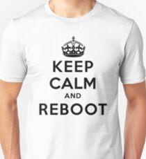 Keep Calm Geeks: Reboot Unisex T-Shirt