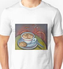 Red Dutch Bicycle with Cappuccino and Amaretti T-Shirt