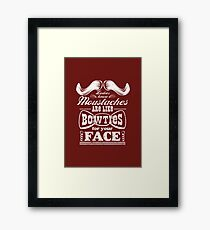 Moustaches: Bowties for Your Face Framed Print