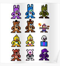 8-bit Five Nights at Freddy's Poster