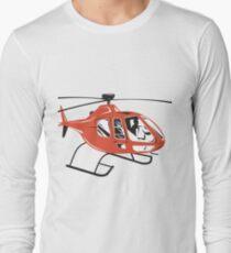 Helicopter Chopper Retro  T-Shirt