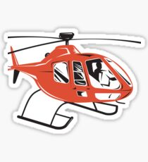 Helicopter Chopper Retro  Sticker